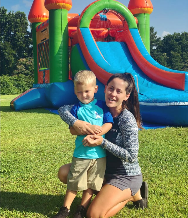 Jenelle and kaiser birthday pic