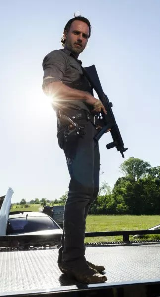 Rick Grimes on The Walking Dead Season 8