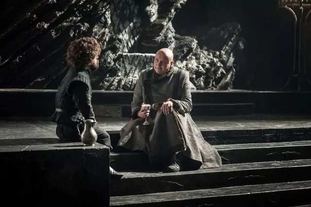 Tyrion and varys and wine