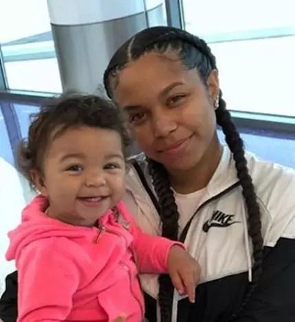 Cheyenne Floyd with Daughter