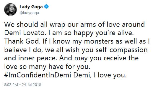Demi lovato overdose tweets 05 lady gaga