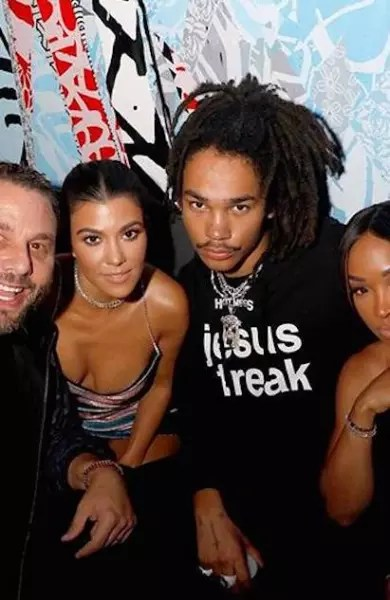 Luka Sabbat and Kourtney Kardashian
