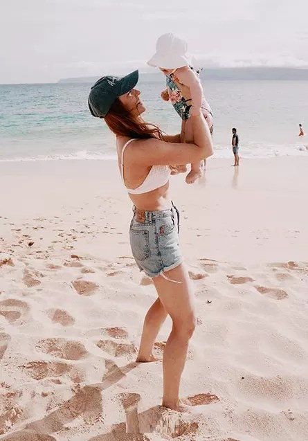 Audrey roloff and ember jean in maui