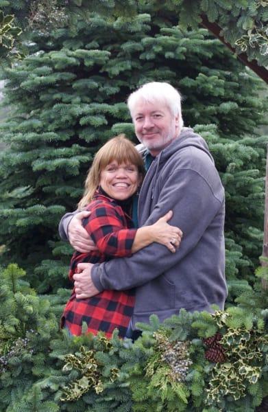 Amy and Chris on Christmas
