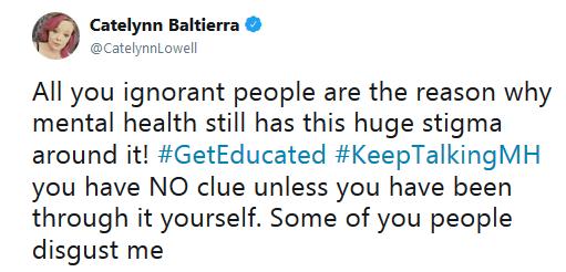 Catelynn Lowell Rehab Tweet 1