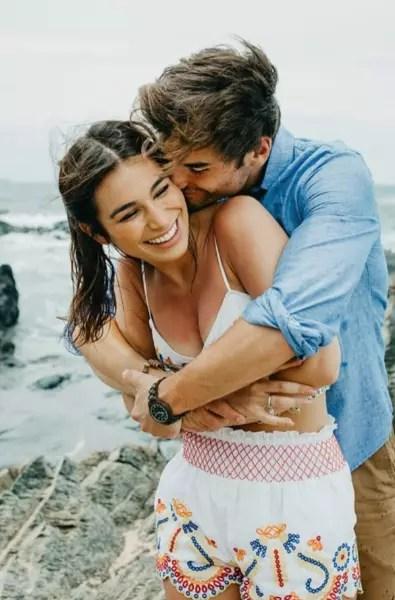 Ashley Iaconetti and Jared Haibon on a Beach