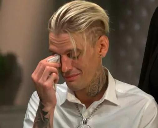 Aaron Carter Cries