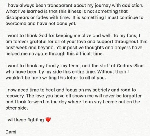 demi statement