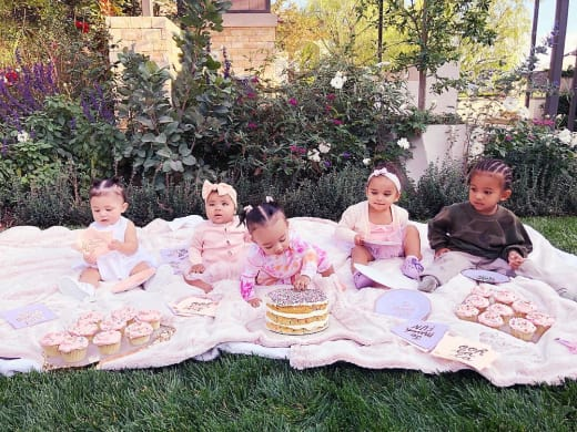 Stormi Webster, True Thompson, Chicago West, Dream Kardashian, and Saint West