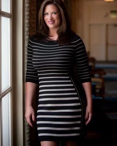 Emily Simpson Wears Stripes