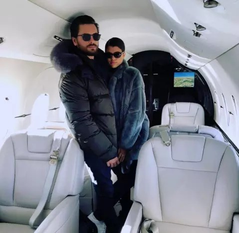 Scott Disick and Sofia Richie, Private Plane