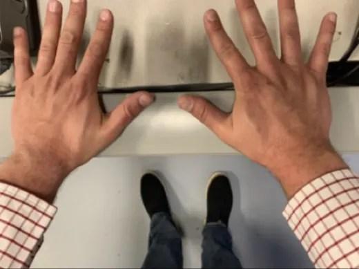 Josh Duggar's Hands