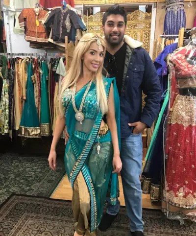 Farrah Abraham and Simon Saran in Bridal Shop