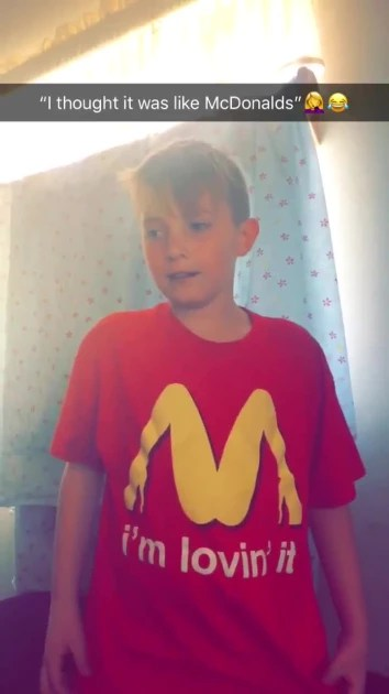 Mother Apologizes After Her Young Son Wears Lewd Mcdonald