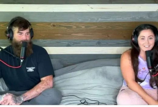 Jenelle and David Podcasting