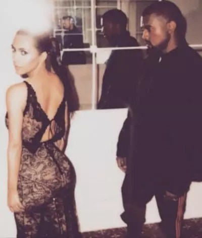 Kim Kardashian with Her Man