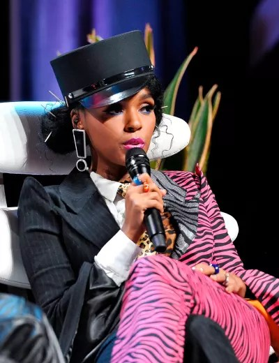 Janelle Monae on the Mic