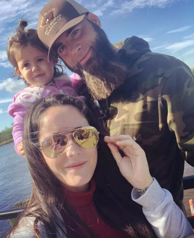 Jenelle evans with david and ensley
