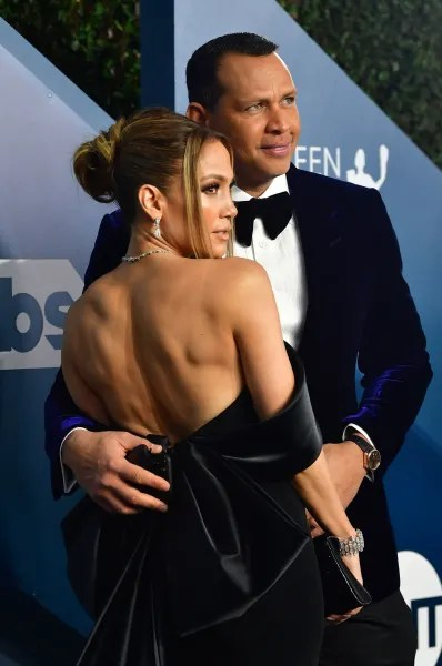 Jennifer Lopez and Alex Rodriguez in 2020