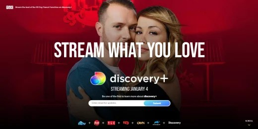 Discovery+ promo featuring 90 Day Fiance