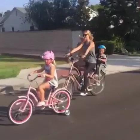 christina el moussa sunday funday bike ride