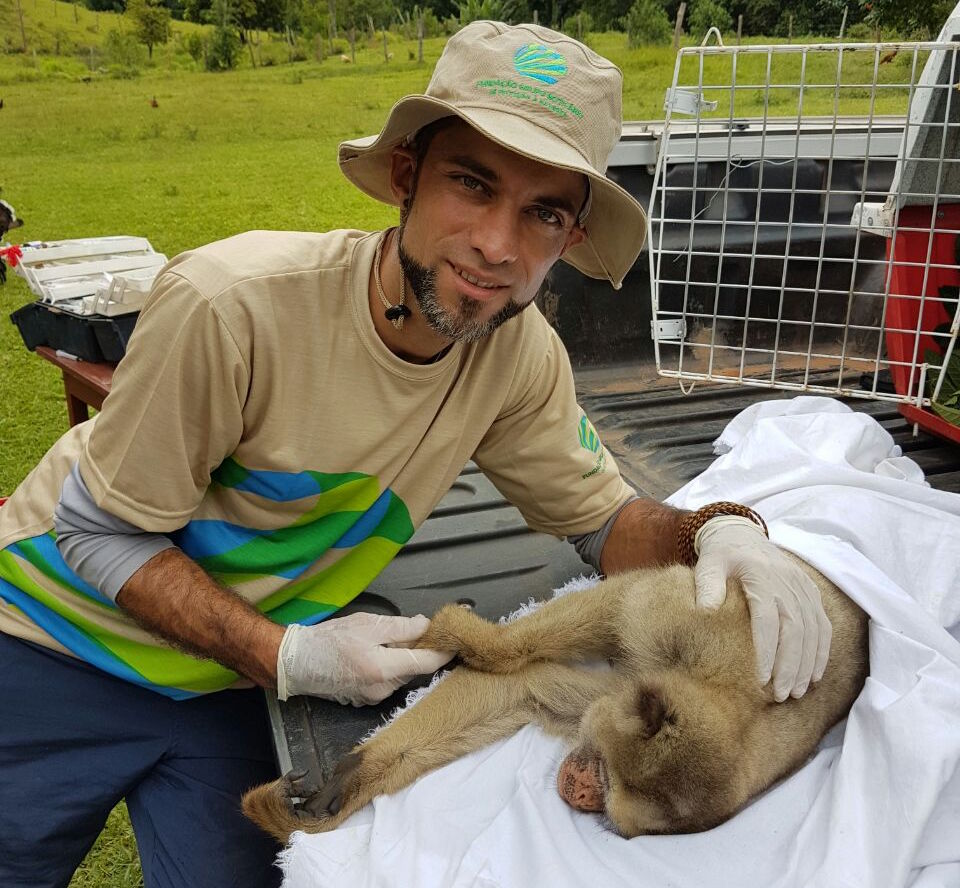 Brazilian primatologist Leandro