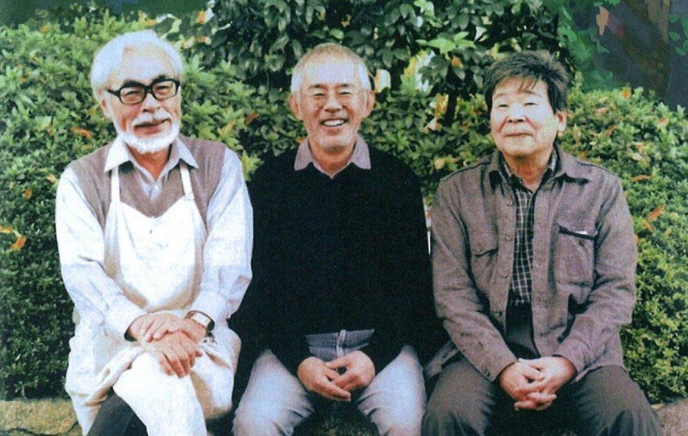 Hayao Miyazaki, Joe Hisaishi and Isao Takahata.