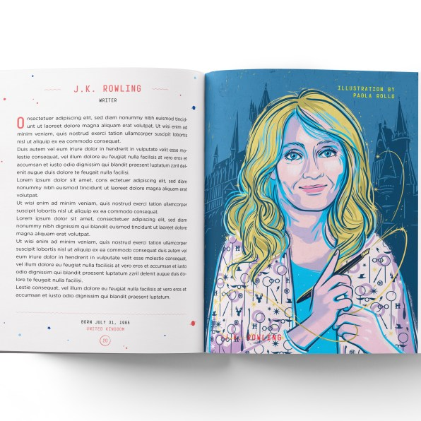 J.K. Rowling is featured in the second volume of the book. © Timbuktu Labs
