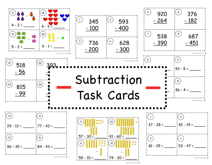 Subtraction Task Cards: What, Why, and How