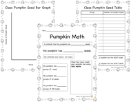 Math Pumpkin Activities preview
