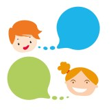 Boy and Girl speaking