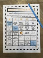 Summer Reading BINGO Example