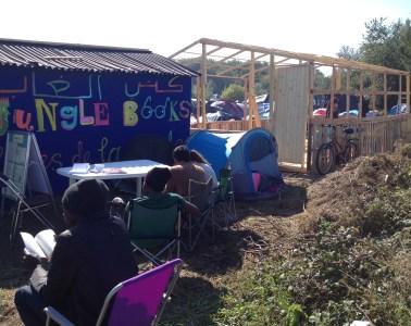 Calais Jungle camp library refugees