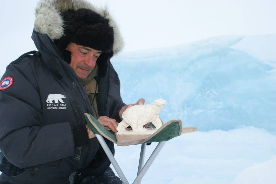 Mark Coreth at work in the Arctic, 2009