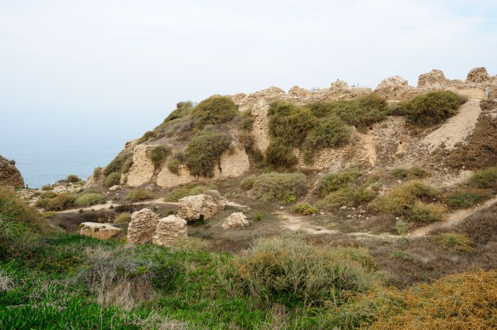 Appolonia crusader fortress and dry moat