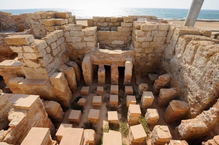 Hypocaust at Roman bathhouse