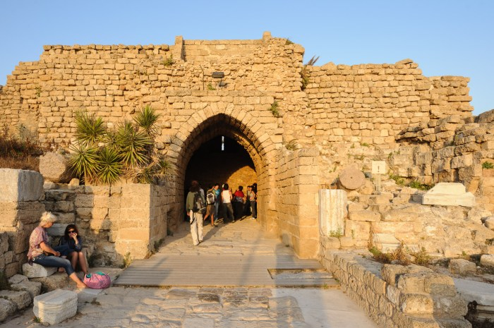 Crusader gate to Caesarea