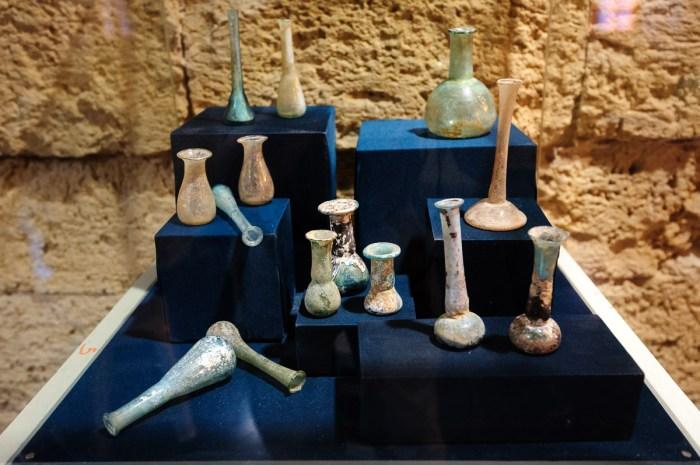 Ancient glass vessels