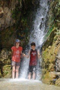 Waterfall at Nahal David, Ein Gedi