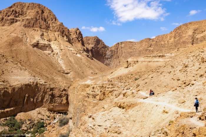 Zafit Trail nahe En Gedi, Totes Meer