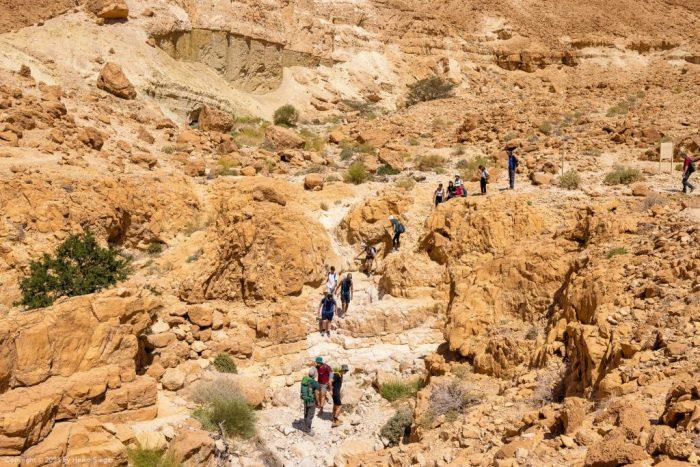 Tsafit trail entrance into Dry Canyon