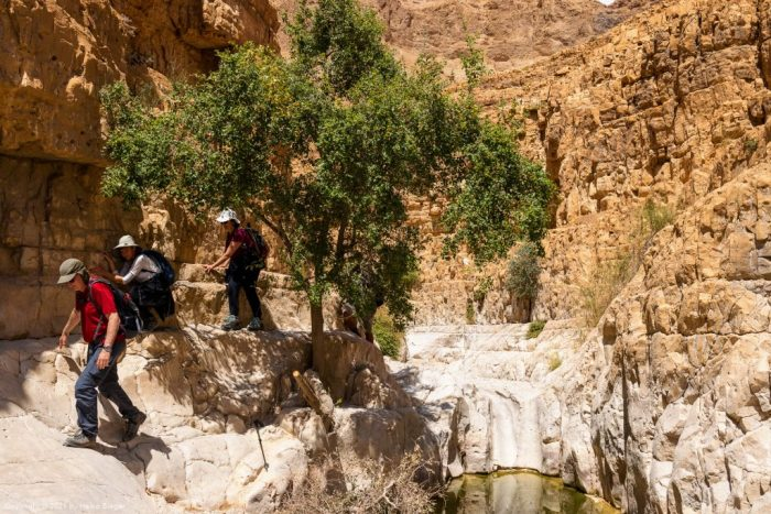 Strudelloch (Gumpe oder Kolke) im trockenen Canyon