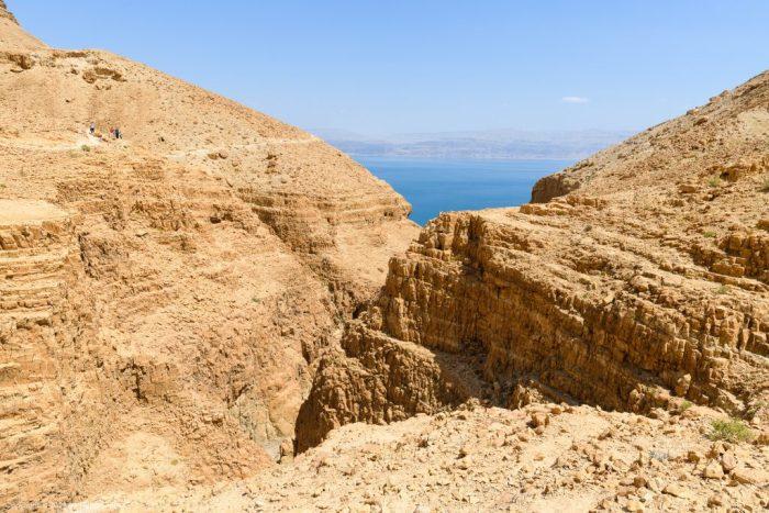 Trockener Canyon und Totes Meer