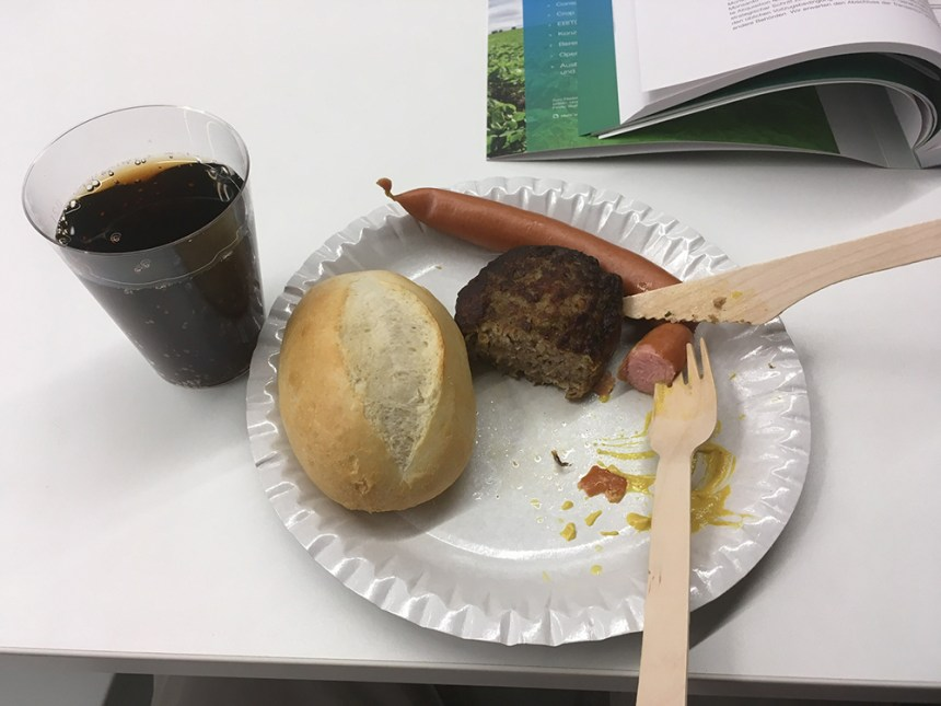 Food at the Bayer shareholder meeting