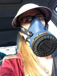 Another Melfie: This time wearing a heavy-duty silicone mask