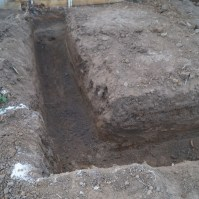 Trenches are dug out
