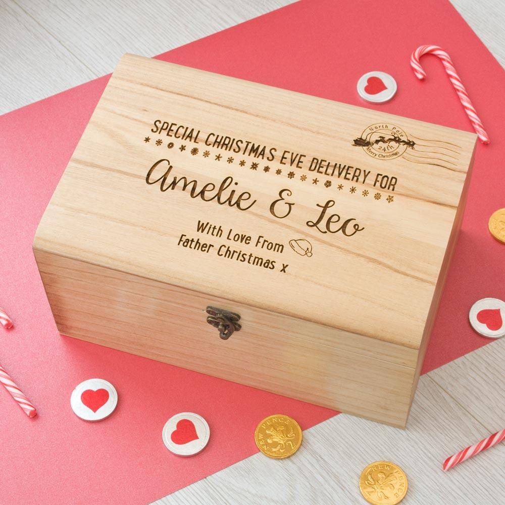 Christmas Eve Box Postal Mark Design The Laser Boutique