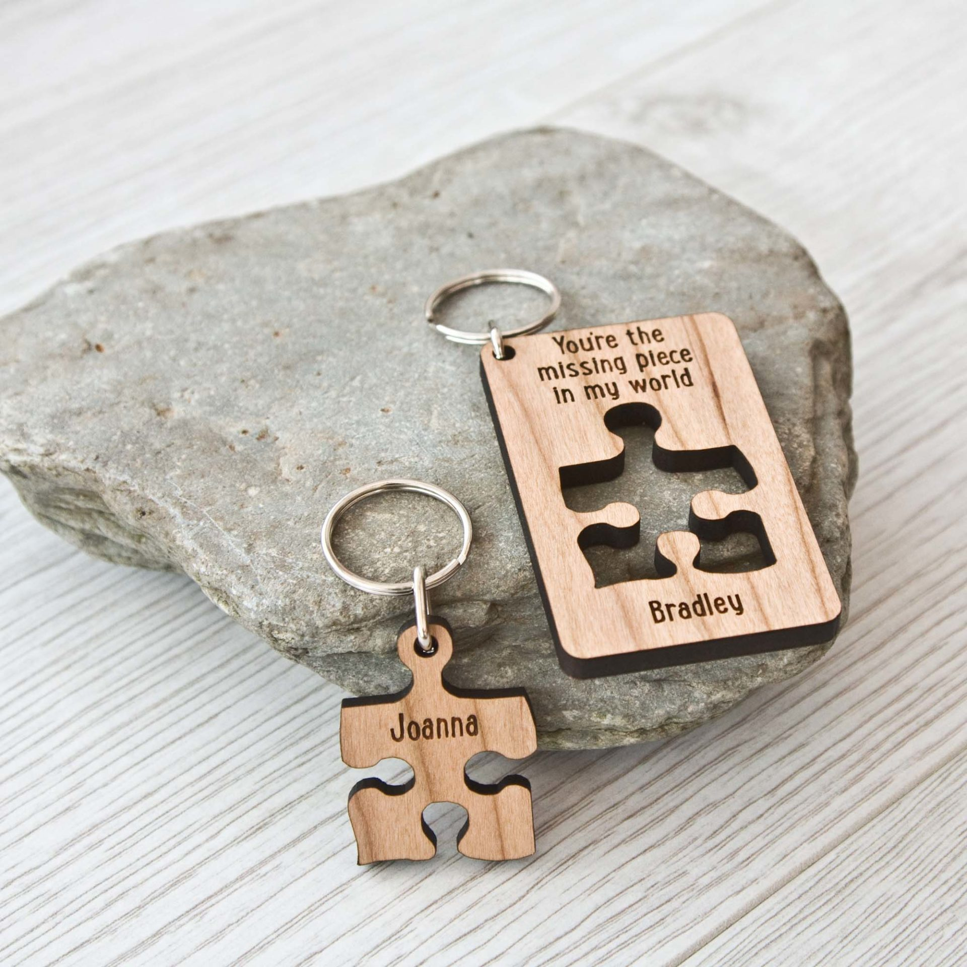 Your My Missing Piece Keyring Set 2 The Laser Boutique