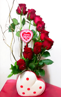 Red rose spiral flower Arrangementorder roses online flowers online flower shop TFS-min