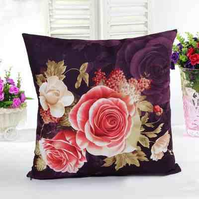 black-flower-flowers-black-cushion-gifts-florist-Linen Cushion Gift)